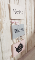 Three Tier Personalised Wooden Kitchen Sign